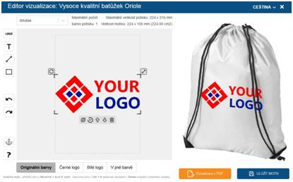Online vizualizace loga - editor vizualizace loga